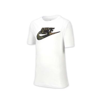 NIKE 大童短袖T恤 白綠