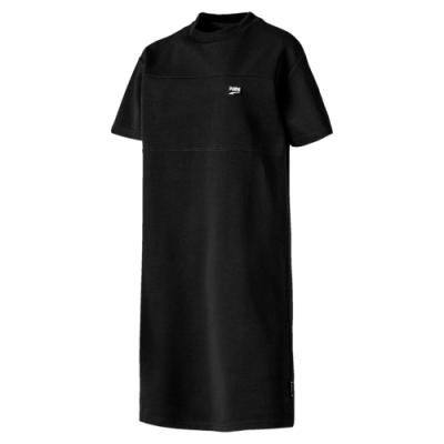 PUMA-女性流行系列Downtown連身裙-黑色-歐規