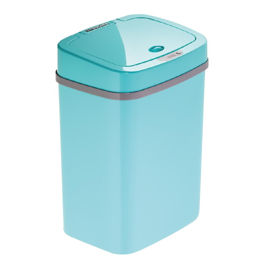 美國NINESTARS時尚感應垃圾桶12L蒂芬妮藍(廚衛系列)