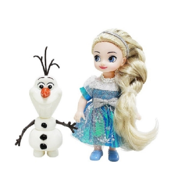 迪士尼 4吋迷你艾莎娃娃組