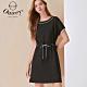 OUWEY歐薇 時尚彈性抽繩簡約風連身裙(黑)3212167009 product thumbnail 1