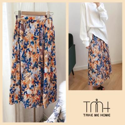 印象派彩繪棉質半身裙-TMH