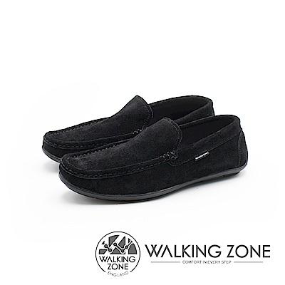 WALKING ZONE 極簡雅痞懶人鞋休閒鞋 男鞋-黑(另有咖)