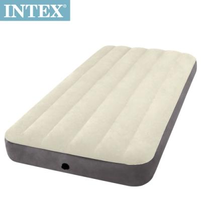 INTEX 新型氣柱-單人加大植絨充氣床墊-寬99cm(64101)