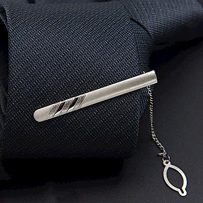 拉福   領帶夾多斜領帶夾領夾銀(5.5cm)