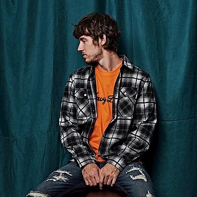 CACO-復古格法蘭絨襯衫-(兩色)-男【QNA035】