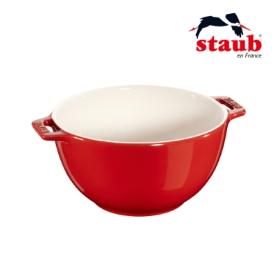 法國Staub 陶瓷沙拉缽 18cm 櫻桃紅