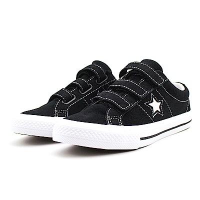 Converse 中大童休閒鞋-658491C 黑