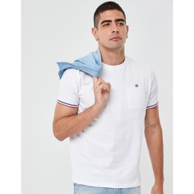 CACO-MIT AR口袋織帶短T(兩色)-男【UAR001】