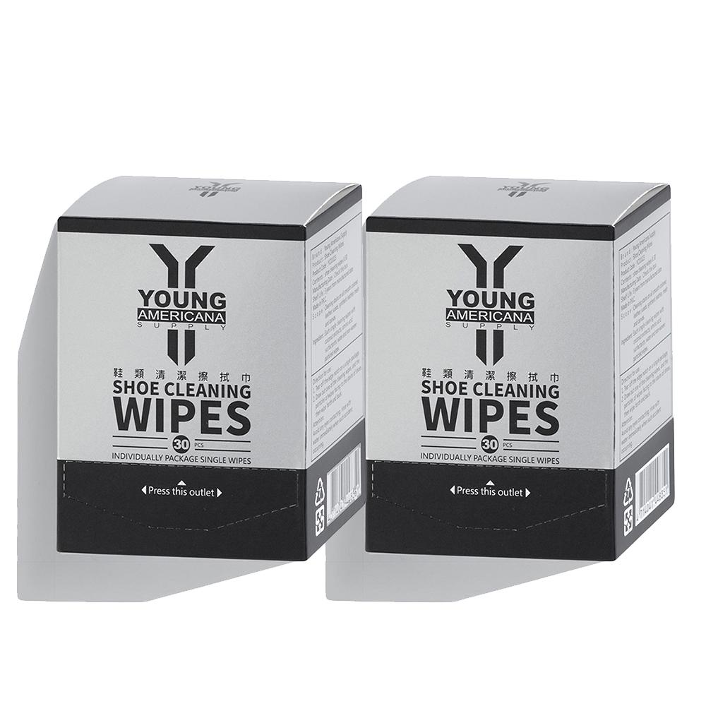 [團購_2入組] Y.A.S 美鞋神器 鞋類清潔擦拭巾-30片裝