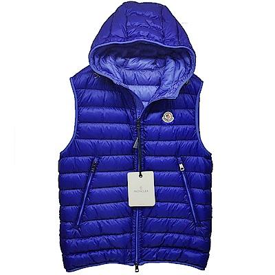 MONCLER MORELLET品牌經典羽絨車縫連帽背心(藍系)