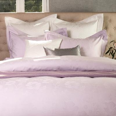 Madame Duree│情深(粉紫)│進口精梳棉 緹花寢飾 單人枕套床包組