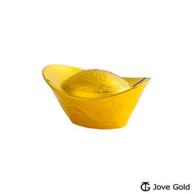 Jove Gold 漾金飾 貳台錢加大版黃金元寶x1-招財進寶