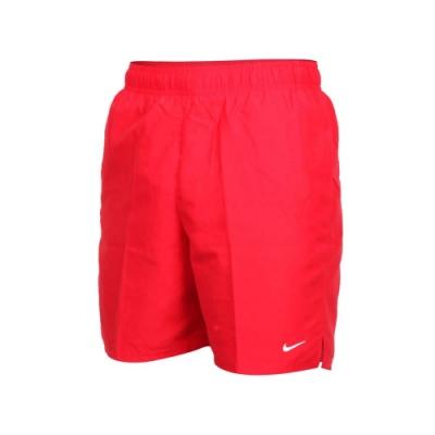 NIKE 男 七吋海灘褲  SWIM 紅白