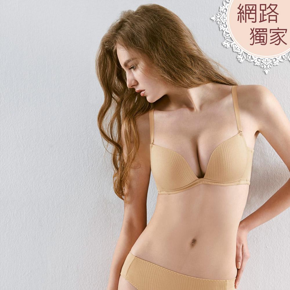 【曼黛瑪璉】舒壓Bra  B-D罩杯內衣(渡假膚)