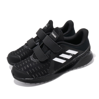 adidas 慢跑鞋 ClimaCool Vent 運動 童鞋 愛迪達 三線 涼感 透氣 魔鬼氈 中童 黑 白 EG4849
