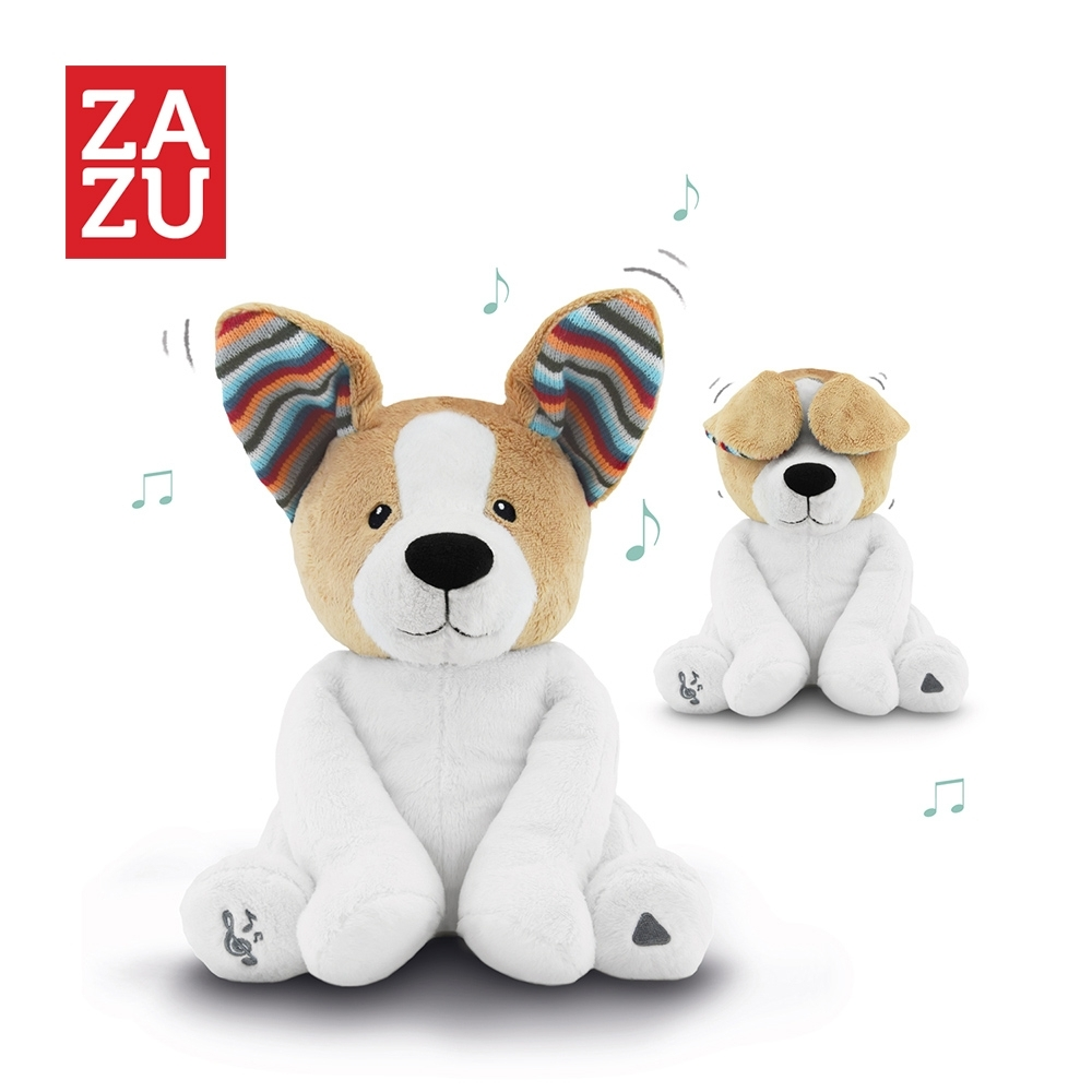 ZAZU 荷蘭 音樂安撫玩偶 躲貓貓好朋友系列-小狗Danny