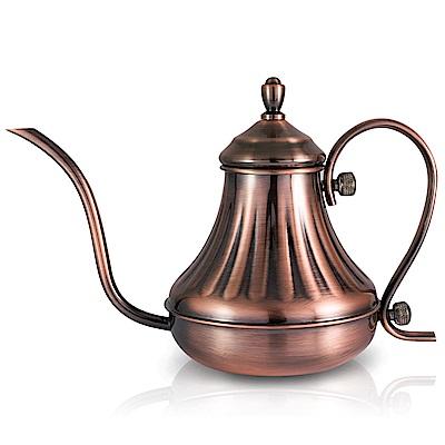 【NO.10 達人咖啡】古銅不鏽鋼宮廷壺420ml