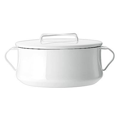 DANSK 琺瑯雙耳燉煮鍋-(白色)