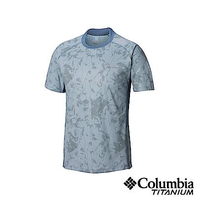 Columbia哥倫比亞男款-鈦50涼感快排抗曬短袖上衣-墨藍UAE06800IB