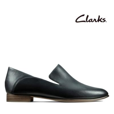 Clarks 純甄品味-全真皮柔軟舒適樂福鞋 黑色