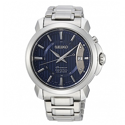 SEIKO Premier品味紳士萬年曆時尚腕錶/SNQ157J1/6A32-00Z0B