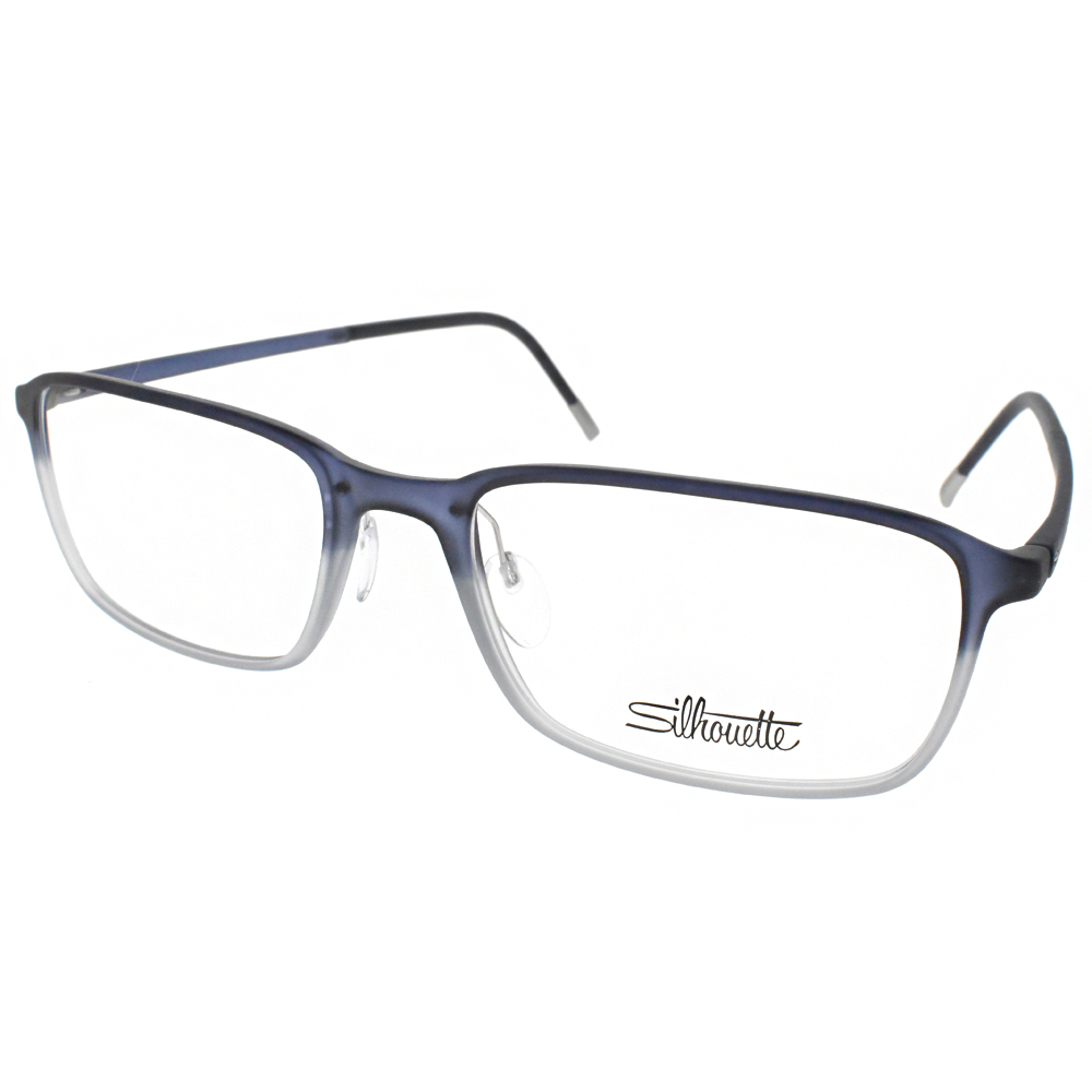 Silhouette詩樂眼鏡 輕盈休閒/漸層藍 #ST2912-75 4511