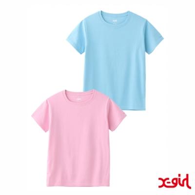 X-girl BASIC 2P S/S BABY TEE短袖T恤(兩件組)-粉/藍