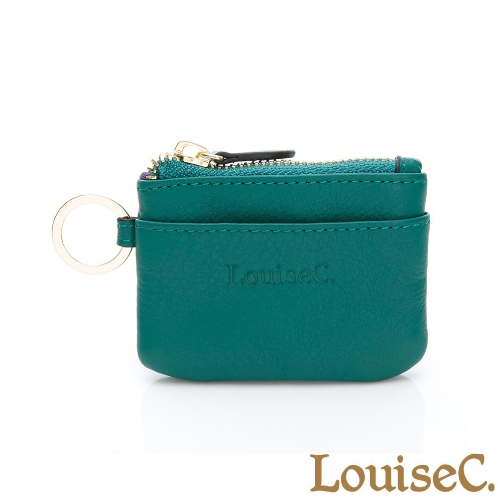 【LouiseC.】現代迷你版零錢鑰匙包-草綠色 (16C01-0058A08)
