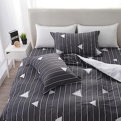 夢工場   雅緻風流精梳棉床包兩用被組-加大