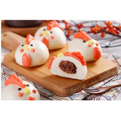 禎祥食品‧小雞甜包(紅豆)(10粒/包,共三包)