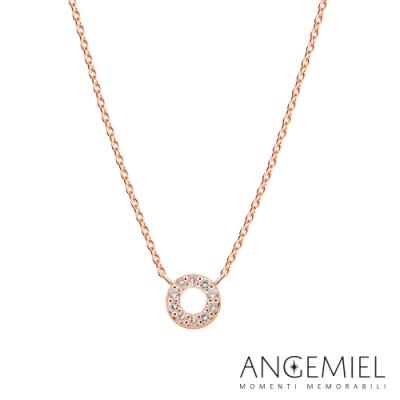 Angemiel 安婕米 Fortuna 鑽石項鍊 圓舞曲 0.1克拉 玫瑰金