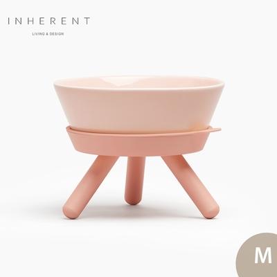 韓國Inherent Oreo 寵物低腳碗 寵物碗 寵物碗架 狗碗 M 果凍粉