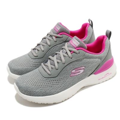 Skechers 慢跑鞋 Skech-Air Dynamight 女鞋 氣墊 避震 緩衝 支撐 記憶型泡棉鞋墊 灰 粉 149340GYHP