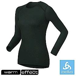 瑞士 ODLO warm effect 女機能型銀離子圓領保暖上衣_黑