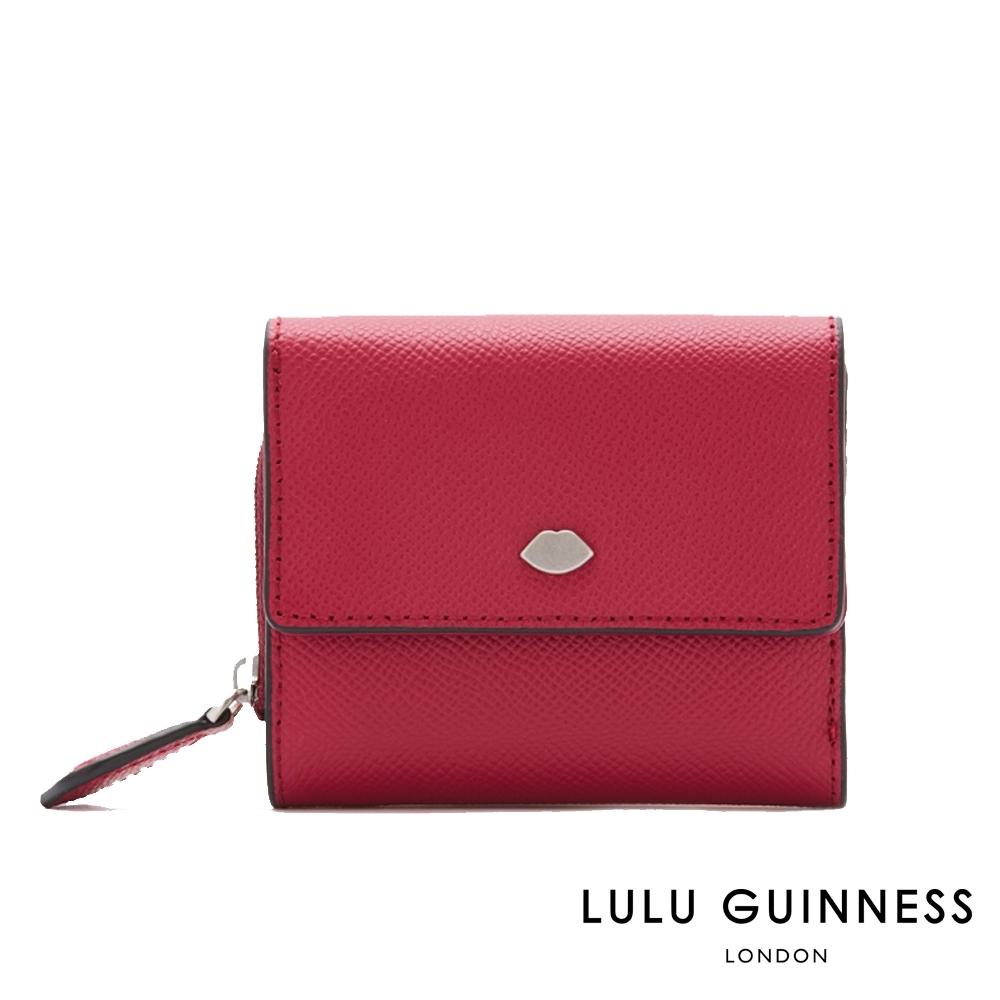LULU GUINNESS JODIE 短夾 (覆盆莓紅)