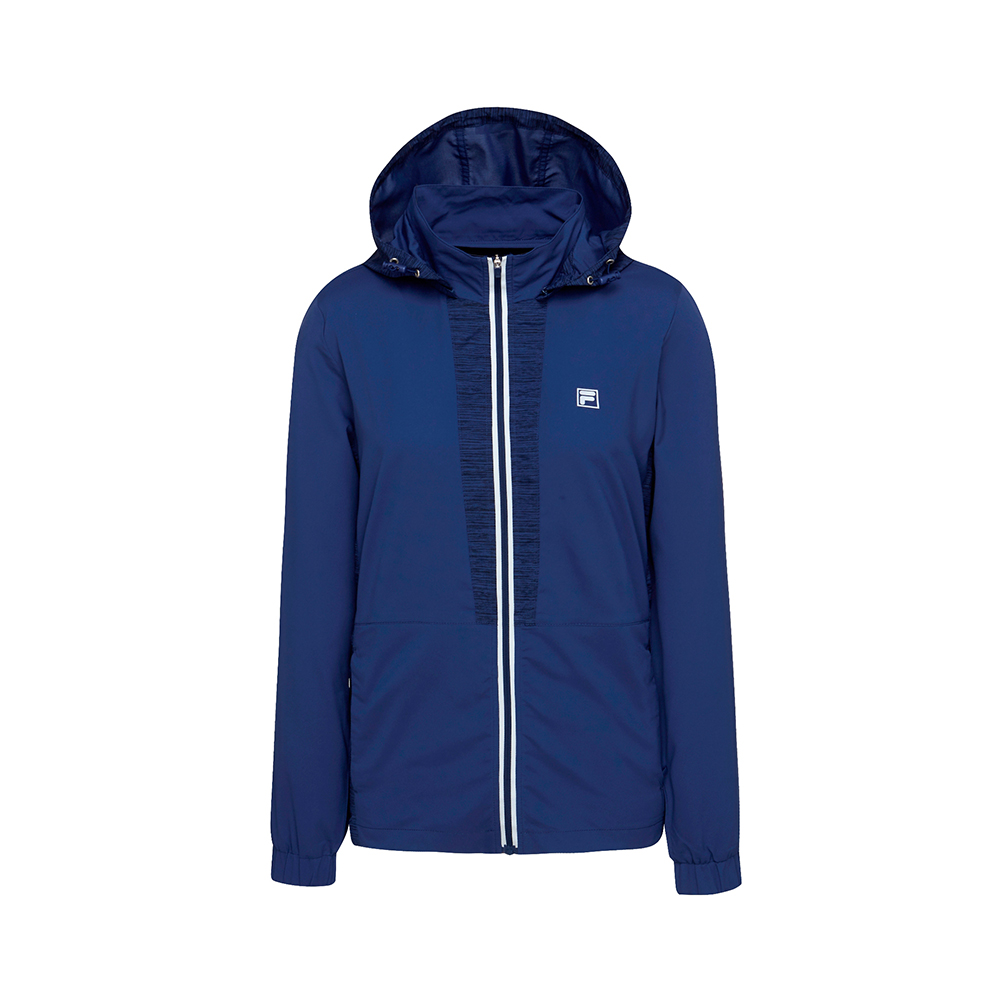 FILA 女款抗UV風衣外套-藍紫 5JKT-1325-DB