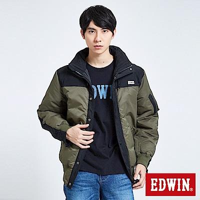 EDWIN 潮流機能 軍裝羽絨外套-男-橄欖綠