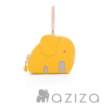 aziza小象造型吊掛零錢包 黃