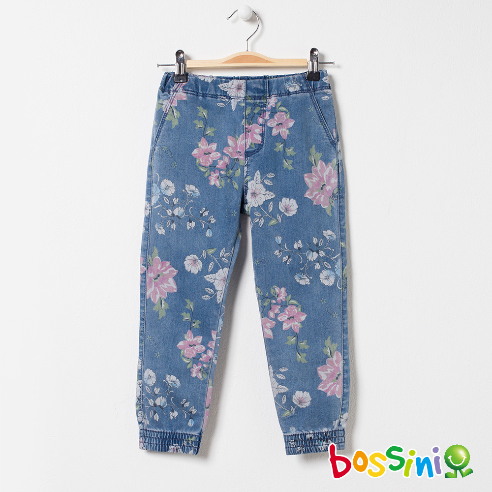 bossini女童-輕鬆束口長褲01淺藍
