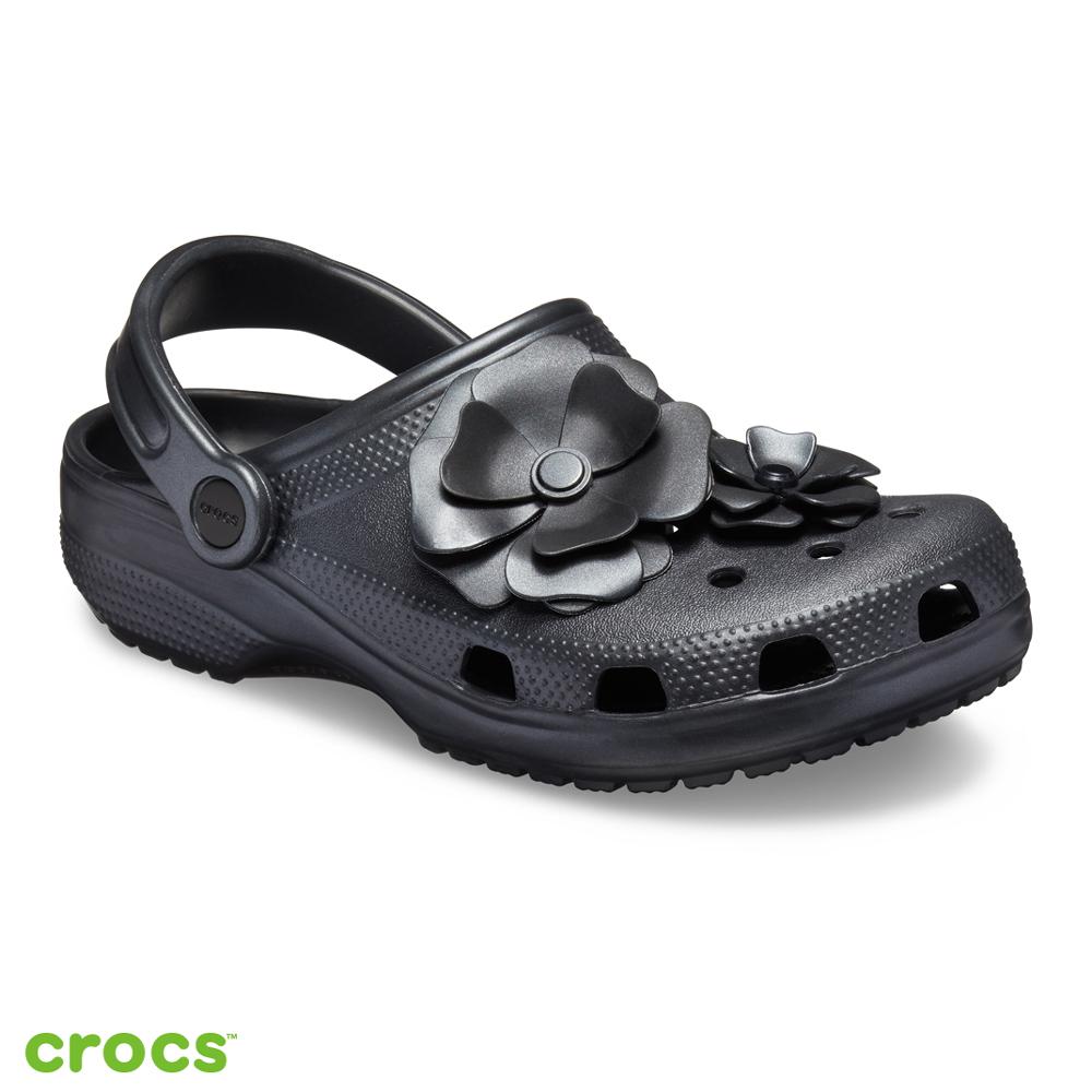 Crocs 卡駱馳 (中性鞋) 經典花朵克駱格 205587-001