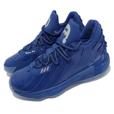 adidas 籃球鞋 Dame 7代 GCA 運動 男鞋 愛迪達 海外限定 里拉德 球鞋 藍 銀 FY2807