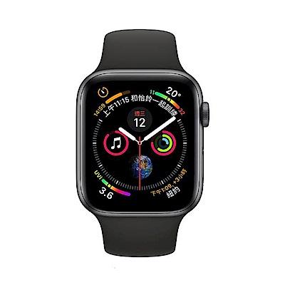 Apple Watch S4 44mm GPS+網路版 太空灰鋁金屬錶殼配黑色運動型錶帶