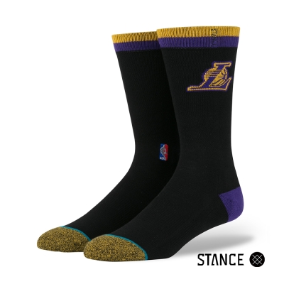 STANCE LAKERS CASUAL LOGO-男襪-NBA球隊襪