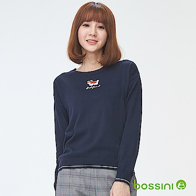 bossini女裝-圓領針織線衫03海軍藍