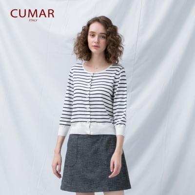 【CUMAR】精緻鈕扣-女七分袖針織衫 (三色/魅力商品/版型適中)