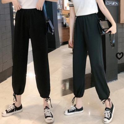 【韓國K.W.】(預購)時尚首選修身加長束口褲-2色