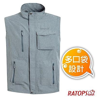 瑞多仕 男款 輕量休閒多口袋背心(拉鍊袋款)_DA2382 碳麻灰色