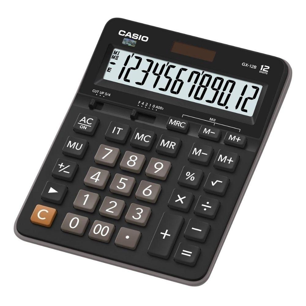 CASIO卡西歐12位元商務系列計算機-黑X灰色-GX-12B