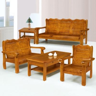 MUNA 766型柚木色實木組椅(全組)  188X79X98cm